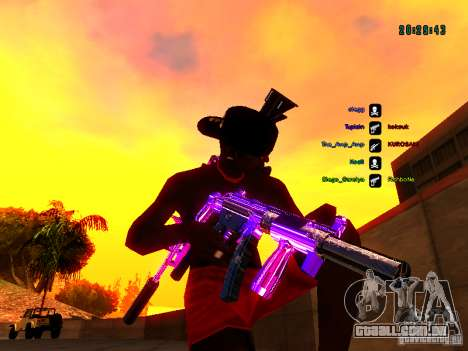 Cromo roxo em armas para GTA San Andreas sexta tela