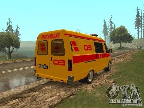 GÁS ressuscitação 32217 para GTA San Andreas traseira esquerda vista