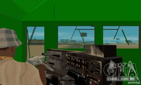 THE GO Transit Train para GTA San Andreas vista traseira
