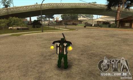 Tiro com uma espingarda serrados com Jetpack para GTA San Andreas