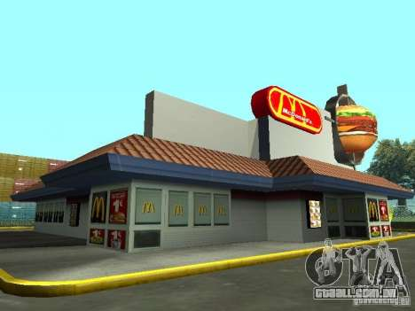 Mc Donalds para GTA San Andreas quinto tela