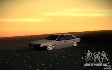 VAZ 21099 LifeStyle Tuning para vista lateral GTA San Andreas