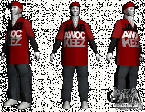 JabbaWockeeZ Skin para GTA San Andreas