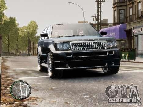 Land Rover SPORT 4.2L para GTA 4 traseira esquerda vista