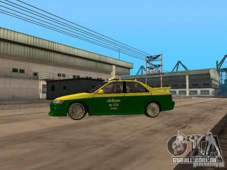 Toyota Camry Thailand Taxi para GTA San Andreas esquerda vista