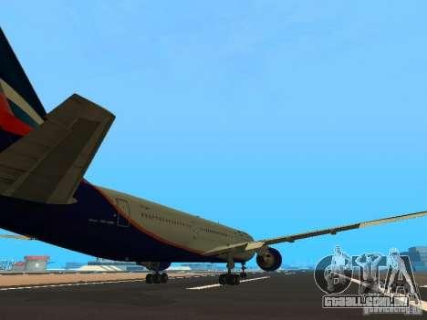 Boeing 767-300 Aeroflot para GTA San Andreas vista direita