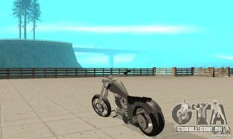 GTAIV Hellfury para GTA San Andreas traseira esquerda vista