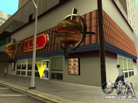 Mc Donalds para GTA San Andreas oitavo tela