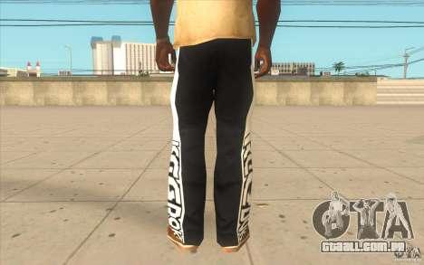 Reebok Sporthose para GTA San Andreas terceira tela