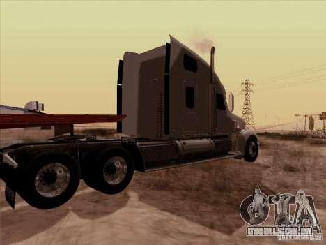 Freightliner Coronado para GTA San Andreas traseira esquerda vista
