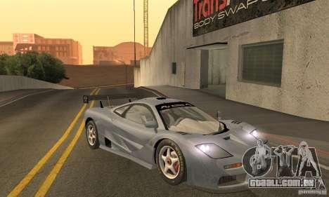 Mclaren F1 LM (v1.0.0) para GTA San Andreas vista traseira