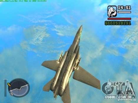 F 14 A TOMCAT para GTA San Andreas vista traseira