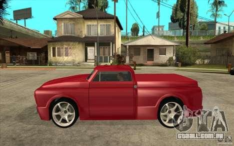 Slamvan Custom para GTA San Andreas esquerda vista