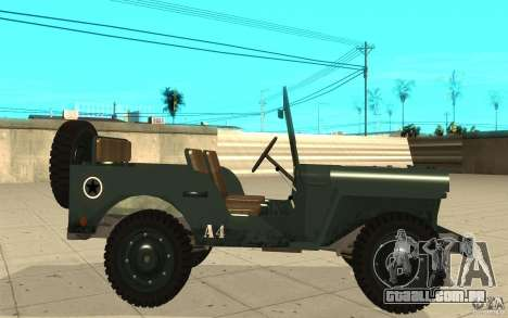 Willys MB para GTA San Andreas esquerda vista