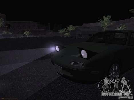 Mazda MX-5 1997 para GTA San Andreas vista superior