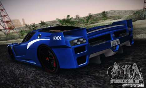 Ferrari FXX Evoluzione para GTA San Andreas esquerda vista