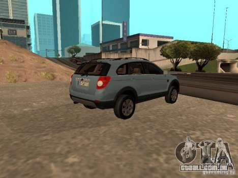 Chevrolet Captiva para GTA San Andreas esquerda vista