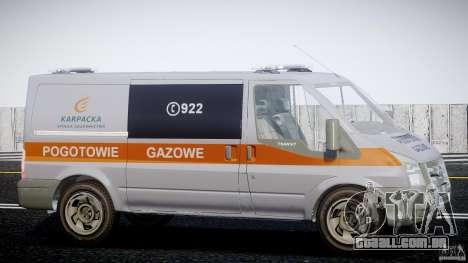 Ford Transit Usluga polski gazu [ELS] para GTA 4 vista de volta
