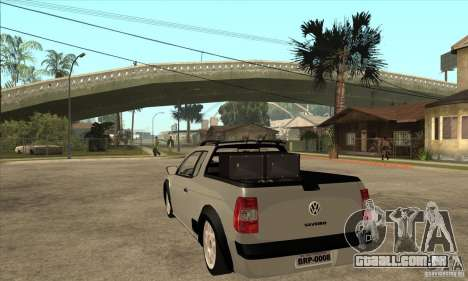 Volkswagen Saveiro G5 para GTA San Andreas traseira esquerda vista