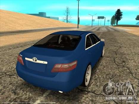 Toyota Camry para GTA San Andreas esquerda vista