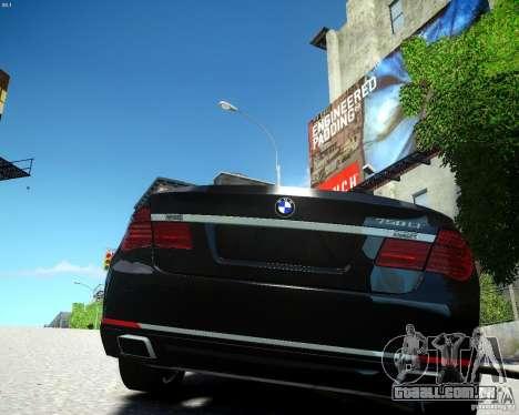 BMW 750Li 2013 para GTA 4 traseira esquerda vista