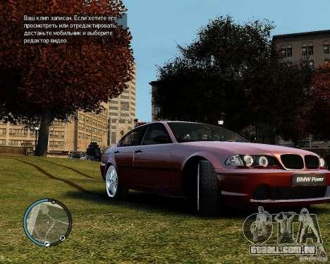 BMW 320i E46 v1.0 para GTA 4 esquerda vista