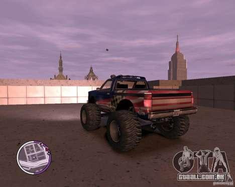 Monster from San Andreas para GTA 4 traseira esquerda vista