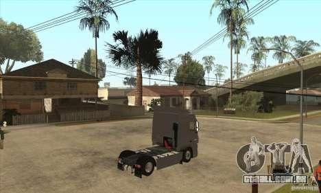 DAF XF para GTA San Andreas vista traseira