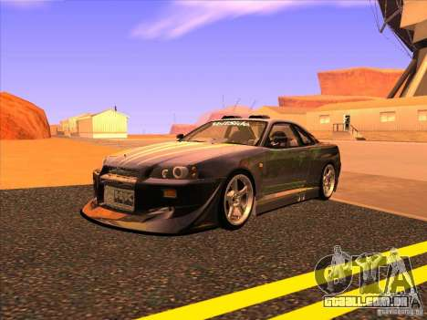 Nissan Skyline R34 Tunable para vista lateral GTA San Andreas