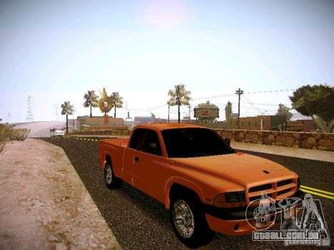 Dodge Ram 1500 Dacota para GTA San Andreas vista traseira