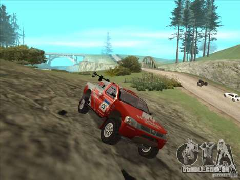 Nissan Pickup para GTA San Andreas vista direita