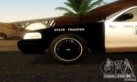 Ford Crown Victoria Oklahoma Police para GTA San Andreas vista direita
