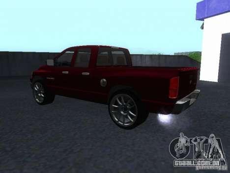 Dodge Ram 1500 v2 para GTA San Andreas traseira esquerda vista