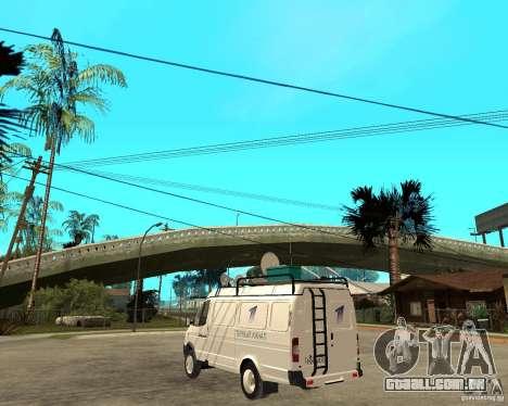 Canal de notícias de gazela 2705 para GTA San Andreas esquerda vista
