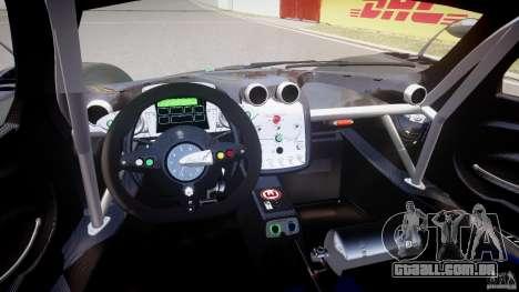 Pagani Zonda R 2009 para GTA 4 vista direita