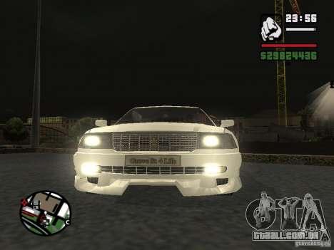 Toyota Crown Tunable para GTA San Andreas traseira esquerda vista