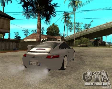 Porsche GT3 para GTA San Andreas traseira esquerda vista