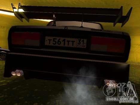 VAZ 2107 X-estilo para GTA San Andreas traseira esquerda vista