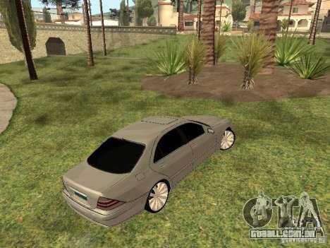 Mercedes-Benz S600 w200 para GTA San Andreas vista direita