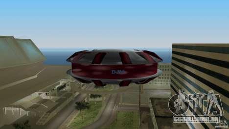 Ultimate Flying Object para GTA Vice City vista traseira esquerda