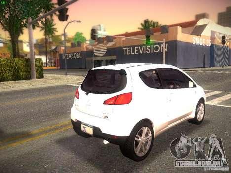 Mitsubishi Colt Rallyart para GTA San Andreas traseira esquerda vista
