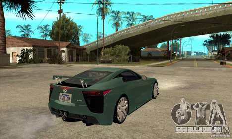 Lexus LFA 2010 para GTA San Andreas vista direita