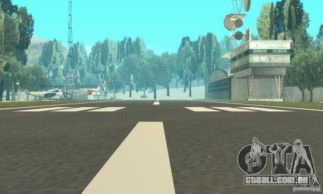 Um aeroporto abandonado no deserto para GTA San Andreas