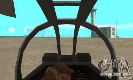 Hunter - AH-1Z Cobra para GTA San Andreas vista direita