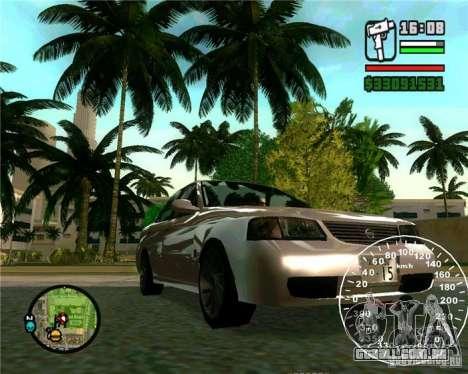 Nissan Sunny para GTA San Andreas traseira esquerda vista