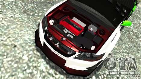 Mitsubishi Lancer Evo IX Tuning para GTA 4 vista lateral