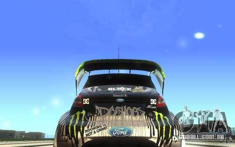 Ford Fiesta Gymkhana para GTA San Andreas vista direita