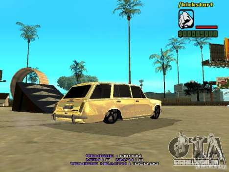 VAZ 2102 ouro para GTA San Andreas traseira esquerda vista