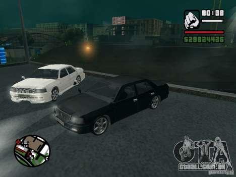 Toyota Crown Tunable para GTA San Andreas vista traseira