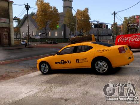 Dodge Charger NYC Taxi V.1.8 para GTA 4 vista lateral